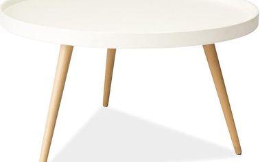 Konferenční stolek Toni 78 cm, bílý - doprava zdarma!