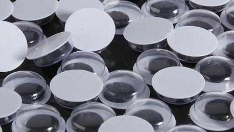 Plastové oči pro ruční výrobu - 100 kusů - dodání do 2 dnů