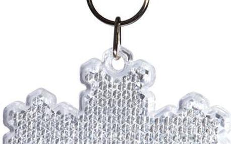 BE SAFE Odrazka sněhová vločka - bílá