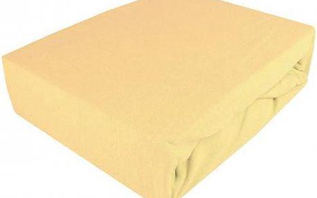 NOVIA Prostěradlo Jersey Exklusive, 200x220cm, Barva Krémová