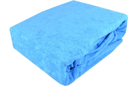 NOVIA Prostěradlo Comfort+ NOVIA, 180x200cm, froté, Barva Modrá