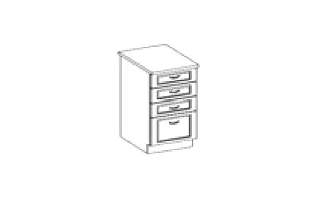 Spodní zásuvková skříňka 40cm. LUNA LTD lamino
