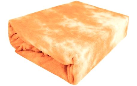 NOVIA Prostěradlo Batika, 180/200cm, bavlna, Barva Oranžová
