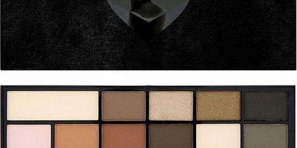 Makeup Revolution Sametová paletka očních stínů Černý samet I LOVE MAKEUP (Wonder Palette Black Velvet) 22 g