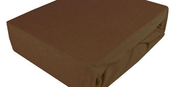 NOVIA Prostěradlo Jersey Exklusive, 160x200cm, bavlna, Barva Čokoládová hnědá