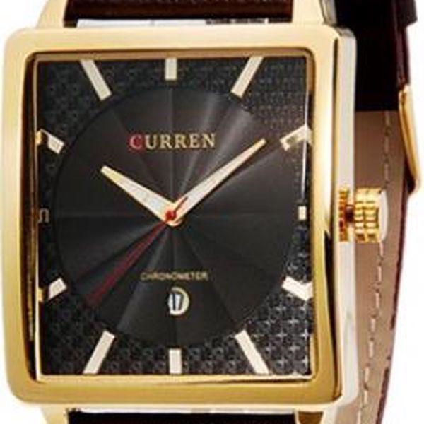 Pánské hodinky CURREN s hranatým ciferníkem