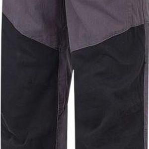 Hannah Chlapecké plátěné kalhoty Twin JR - šedo-černé