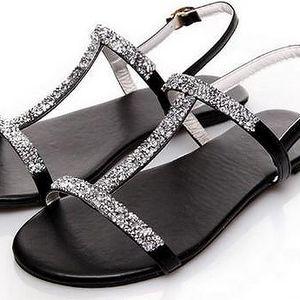 Sandálky s kamínky - 2 barvy
