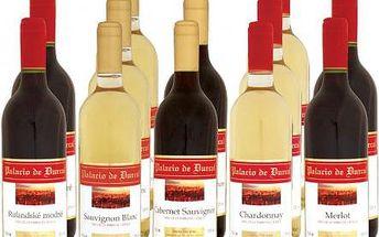 PALACIO Víno Palacio de Durcal, degustační sada - 12 lahví mix, 0.75l Rulandské modré, Cabernet Sauvignon, Merlot, Chardonnay, Sauvignon Blanc, degustační sada - 12 lahví mix, 0.75l
