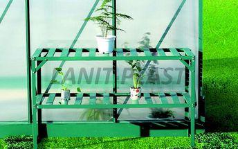 AL regál dvoupolicový zelený LanitGarden