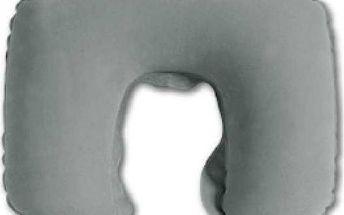 Nafukovací cestovní polštářek - šedý - dodání do 2 dnů