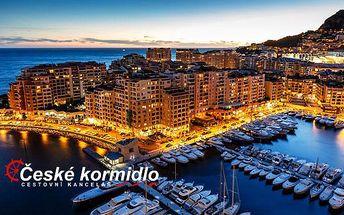 4denní poznávací zájezd | Monako, Monte Carlo, Nice | Snídaně | Moderní autobus