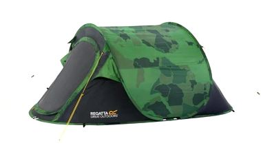 Campingový stan pro 2 osoby Regatta RCE012 MALAWI 2 Print Camo/SealGry