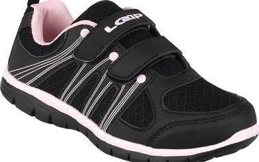 LOAP Dívčí botasky Cleam - černo-růžové