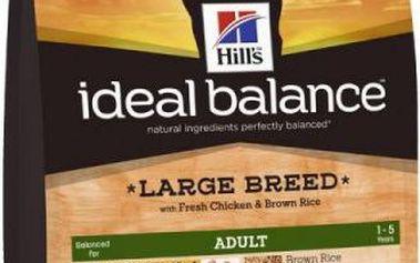 Hill's Ideal Balance Canine Adult Large Breed s čerstvým kuřetem a hnědou rýží 12 kg