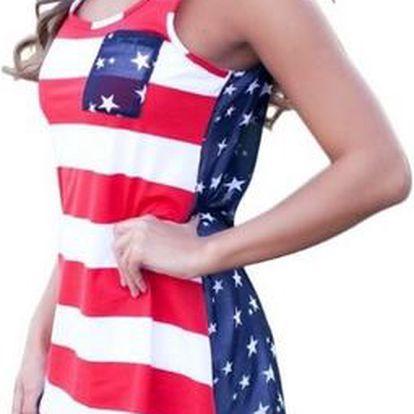 USA top s průsvitnými zády - 5 velikostí
