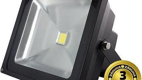 Solight LED venkovní reflektor, 50W, 3500lm, AC 230V, černá