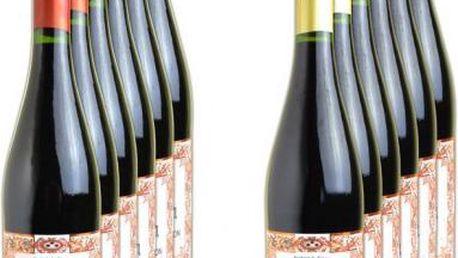 PALACIO Víno Rivera, degustační sada - 12 lahví červených, 0.75l