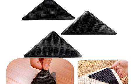Protiskluzová podložky pod koberec v černé barvě - 4 kusy