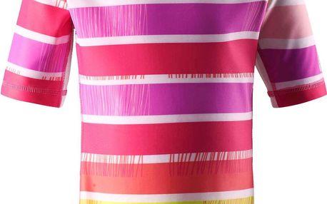 Reima Dívčí plavecké tričko s UV 50+ Fiji supreme pink