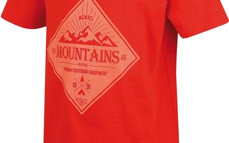 Hannah Chlapecké tričko Duckie JR - červené, 152 cm