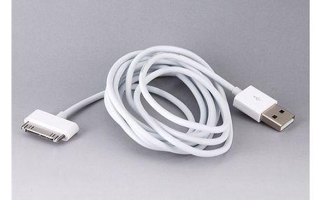 Nabijecí USB kabel pro iPhone 4 - 200 cm