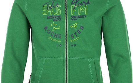 LOAP Chlapecká mikina s kapucí Hata - zelená