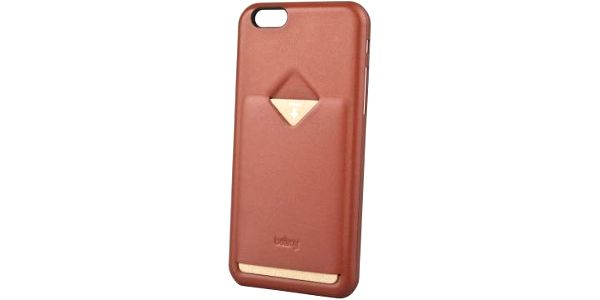 Pouzdro na iPhone 6/6S a 1 kartu v barvě tamarillo