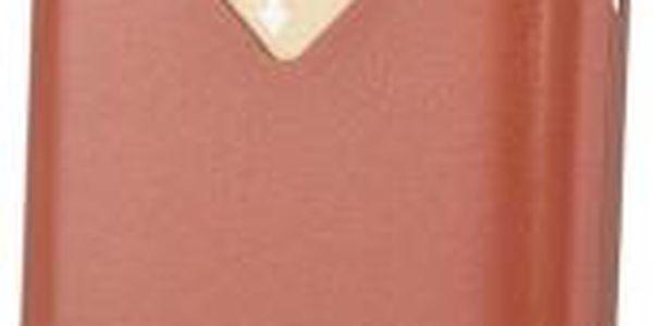 Pouzdro na iPhone 6/6S a 3 karty v barvě tamarillo