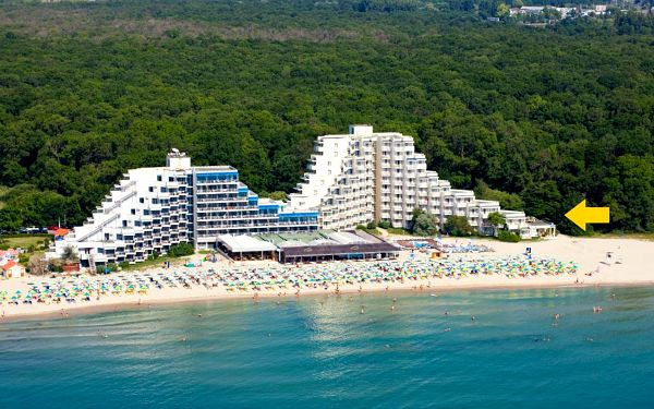Bulharsko, oblast Albena, Mura Beach, letecky, all inclusive