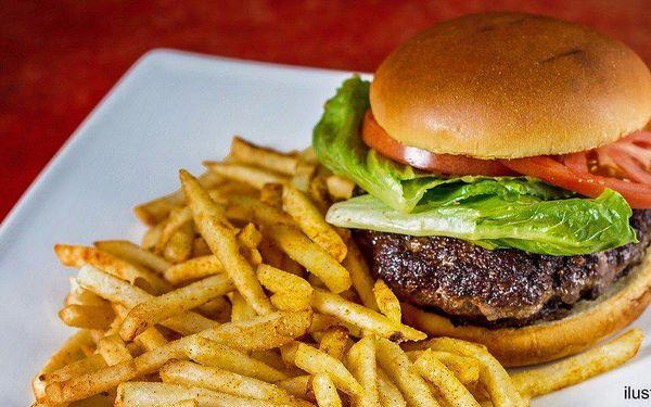 Švejkovo menu: burger, hranolky a malé pivko