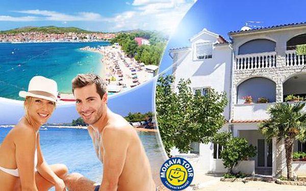Chorvatsko - Vodice, Severní Dalmácie v TOP sezóně na 8 dní pro 1 osobu v apartmánu