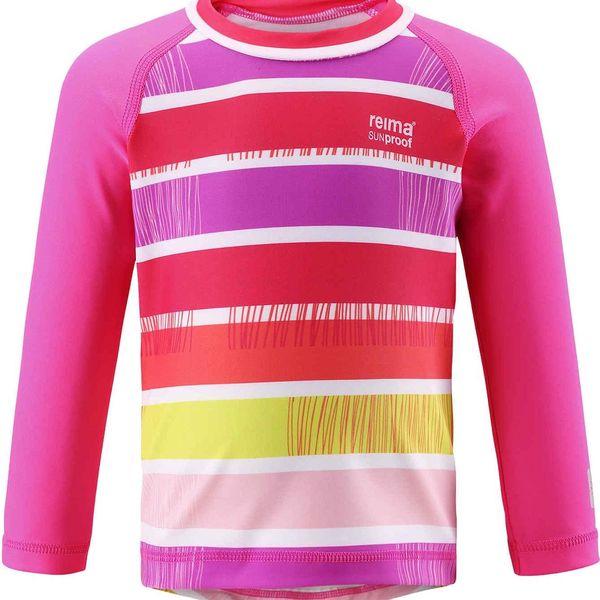 Reima Dívčí plavecké tričko s UV 50+ Borneo supreme pink