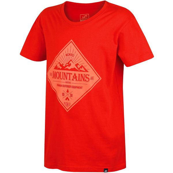 Hannah Chlapecké tričko Duckie JR - červené, 140 cm