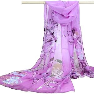 Jemný šifonový šátek - fialová barva - skladovka - poštovné zdarma