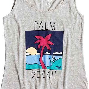 tílko ROXY - Hyper Paradise Palm Beach Heritage Heather (SGRH) velikost: S