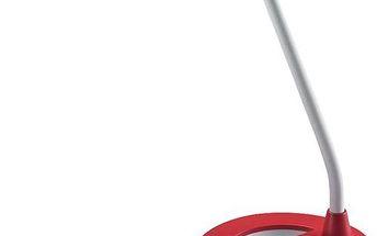 Solight Stolní lampička stmívatelná, červená