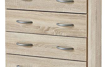Prádelník - 4 zásuvky dub