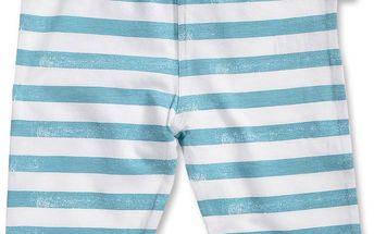 Blue Seven Dívčí pruhované capri kalhoty - modro-bílé