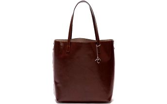 Kožená kabelka Renata Corsi 3001, čokoládově hnědá - doprava zdarma!