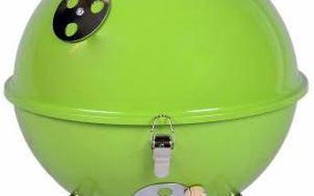 Zahradní mini gril kulatý zelený