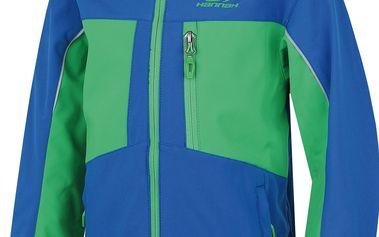 Hannah Chlapecká softshellová bunda Bendy - modro-zelená