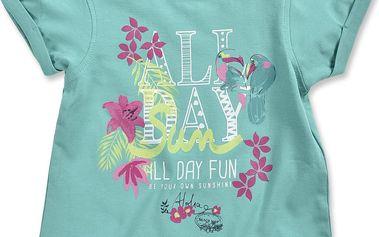 Blue Seven Dívčí tričko Tropical - zelenomodré