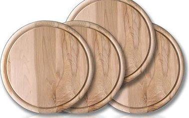 Banquet 4dílná sada dřevěných prkének 22 cm