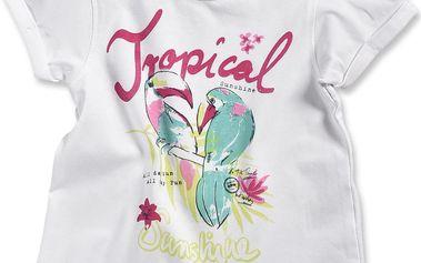 Blue Seven Dívčí tričko Tropical - bílé