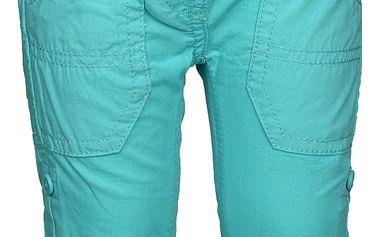 Blue Seven Dětské ohrnovací kalhoty - tyrkysové