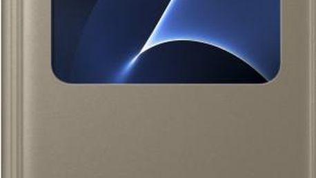 Samsung EF-CG930PF Flip S-View Galaxy S7, Gold - EF-CG930PFEGWW
