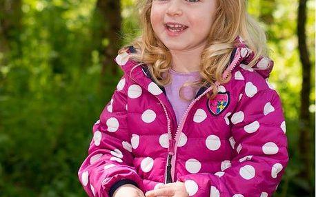 Kozi Kidz Dívčí jarní puntíkovaná bunda Smidig - fialová