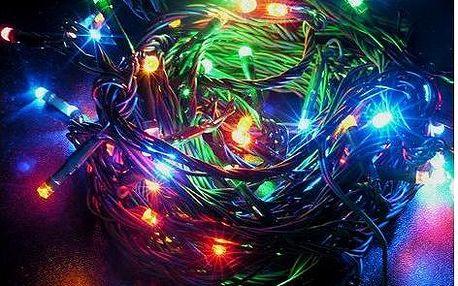 Vánoční řetěz Solight 60 LED 10m 1V01-M barevný