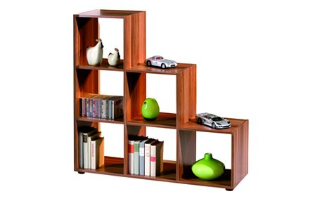 Knihovna BERGAMO 1 ořech